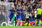 Chelsea appeal for a penalty during the Champions League match between Chelsea and Valencia CF at Stamford Bridge, London, England on 17 September 2019.
