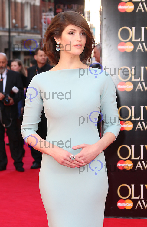 Gemma Arterton, The Laurence Olivier Awards, Royal Opera House, London UK, 13 April 2014, Photo by Richard Goldschmidt