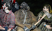 Actors in full costume during the preparation activities for a night performance at Witch's Woods on Friday evening in Westford.<br /> Wicked Local Photo/James Jesson