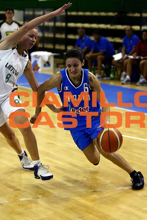 DESCRIZIONE : Chieti Torneo Internazionale Basket Femminile 10 Nazioni Italia Lituania<br /> GIOCATORE : Cirone<br /> SQUADRA : Italia<br /> EVENTO : Torneo Internazionale Basket Femminile 10 Nazioni<br /> GARA : Italia Lituania<br /> DATA : 20/08/2006<br /> CATEGORIA : Penetrazione<br /> SPORT : Pallacanestro<br /> AUTORE : Agenzia Ciamillo-Castoria/L.Lussoso<br /> Galleria : FIP Nazionale Italiana<br /> Fotonotizia : Chieti Torneo Internazionale Basket Femminile 10 Nazioni Italia Lituania<br /> Predefinita :