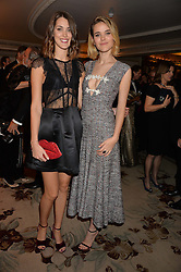 Left to right, CHLOE HERBERT and FRANCESCA HERBERT at the 26th Cartier Racing Awards held at The Dorchester, Park Lane, London on 8th November 2016.
