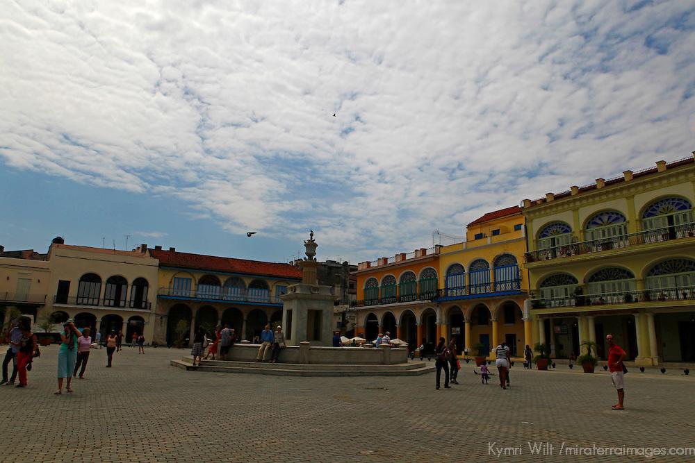 Central America, Cuba, Havana. Plaza Vieja, Old Havana.