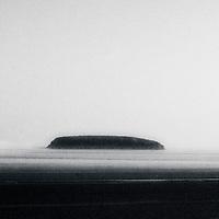 An island shrouded in mist
