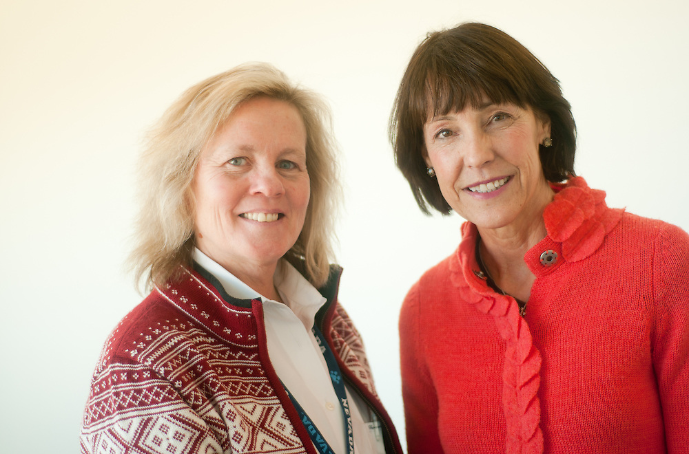 Research director Dr. Judy A. Mikovits, PhD, left; and Annette Whitimore, founder and president of the Whittemore Peterson Institute for Neuro-Immune Disease, pose for a portrait Monday, Feb. 28, 2011 in Reno, Nev...Photos by David Calvert for AP/Special to Nature Magazine