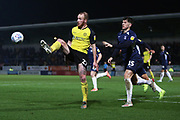 Liam Boyce stretches for the ball during the EFL Sky Bet League 1 match between Burton Albion and Southend United at the Pirelli Stadium, Burton upon Trent, England on 3 December 2019.