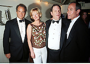 Charles Finch, Jane Procter Harvey Weinstein and ? Tatler post Bafta awards party. Lola's. 1999. © Copyright Photograph by Dafydd Jones 66 Stockwell Park Rd. London SW9 0DA Tel 020 7733 0108 www.dafjones.com