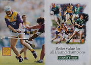 All Ireland Senior Hurling Championship - Final,.01.09.1996, 09.01.1996, 1st September 1996,.01091996AISHCF, .Wexford v Limerick,.Wexford 1-13, Limerick 0-14,.Gerry McInerney, Galway, Tom Dempsey, Dunnes Stores,