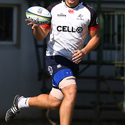 Etienne Oosthuizen  during The Cell C Sharks training session at Growthpoint Kings Park in Durban, South Africa. 18th July 2017(Photo by Steve Haag)<br /> <br /> images for social media must have consent from Steve Haag