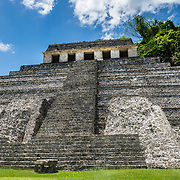 Temple of the Inscriptions at Palenque, Mexico