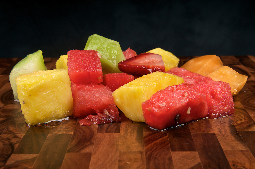 Mix of tropical fruits, fruit salad.