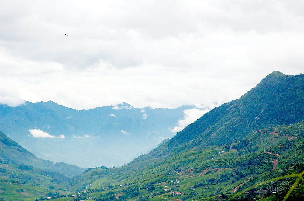 Valley at the North Vietnam Mountains