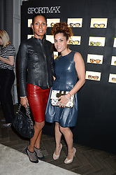 Left to right, SHERETT DAHLSTROM and LILY HODGES at the SportMax + Cutler & Gross launch party hosted by Leigh Lezark at The Arts Club, 40 Dover Street, London on 23rd October 2013.