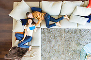 Apartment, Men, Women, Relaxation, Sofa, Digital Tablet, Luxury,