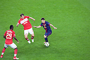 Lionel Messi in action during the Group G UEFA Champions League match between FC Barcelona and Spartak Moscow at the Nou Camp, Barcelona, Spain 19th September 2012. Credit - Eoin Mundow/Cleva Media.