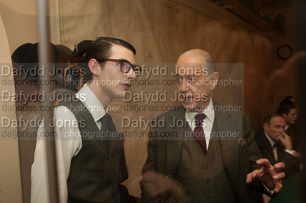 CHARLES HAMBRO; JOHN STANDING, The English Gentleman at the  The Cabinet War Rooms, supported by Chivas deluxe blended Scotch whisky. Whitehall. London. 7 January 2013.