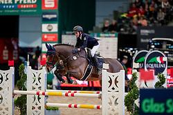 SCHMIDT Magnus (GER), Quantum<br /> Leipzig - Partner Pferd 2019<br /> Finale Eggersmann Junior Cup<br /> 17. Januar 2019<br /> © www.sportfotos-lafrentz.de/Stefan Lafrentz
