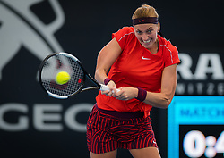 January 1, 2019 - Brisbane, AUSTRALIA - PETRA KVITOVA of the Czech Republic in action against D. Collins of the USA during her first-round match at the 2019 Brisbane International WTA Premier tennis tournament. Kvitova won 6:7, 7:6, 6:3.  (Credit Image: © AFP7 via ZUMA Wire)