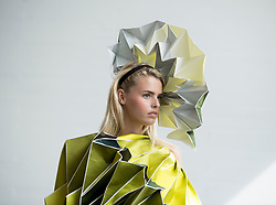 Pictured: design by student Juexin Zhang.<br /> <br /> Students studying fashion design at Glasgow School of Art previewed their work before their annual degree show.<br /> <br /> © Dave Johnston / EEm