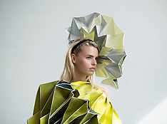 School of Art fashion students degree show preview, Glasgow, 23 August 2019