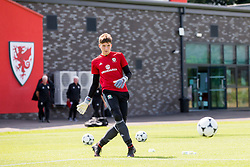 WREXHAM, WALES - Tuesday, August 13, 2019: Wales' goalkeeper Oliver Camis during the pre-match warm-up before the UEFA Under-15's Development Tournament match between Wales and Cyprus at Colliers Park. (Pic by Paul Greenwood/Propaganda)