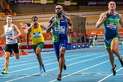 Churandy Martina in action on the 60 meter during the Dutch Indoor Athletics Championship on February 22, 2020 in Omnisport De Voorwaarts, Apeldoorn