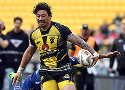 Wellington's Ben Lam trybound against Otago in the Mitre 10 Rugby match at Westpac Stadium, Wellington, New Zealand, Sunday October 01,, 2017. Credit:SNPA / Ross Setford  **NO ARCHIVING**