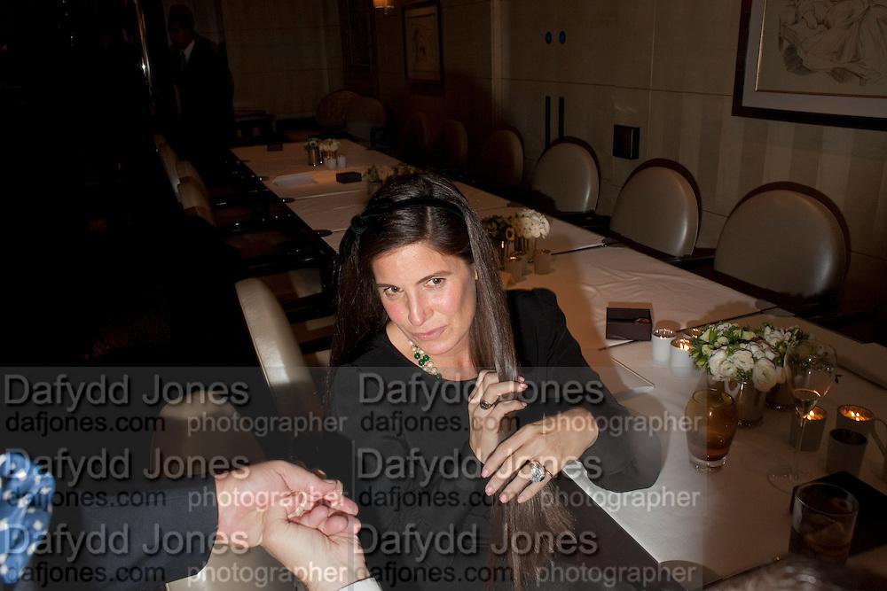 ELIZABETH SALTZMAN, Graydon Carter hosts a dinner to celebrate the reopening og the American Bar at the Savoy.  Savoy Hotel, Strand. London. 28 October 2010. -DO NOT ARCHIVE-© Copyright Photograph by Dafydd Jones. 248 Clapham Rd. London SW9 0PZ. Tel 0207 820 0771. www.dafjones.com.