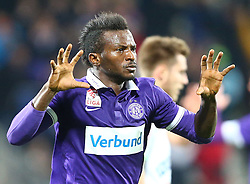 02.12.2015, Generali Arena, Wien, AUT, 1. FBL, FK Austria Wien vs SK Puntigamer Sturm Graz, 18. Runde, im Bild Torjubel Olarenwaju Ayobami Kayode (FK Austria Wien) // during Austrian Football Bundesliga Match, 18th Round, between FK Austria Vienna and SK Puntigamer Sturm Graz at the Generali Arena, Vienna, Austria on 2015/12/02. EXPA Pictures © 2015, PhotoCredit: EXPA/ Thomas Haumer