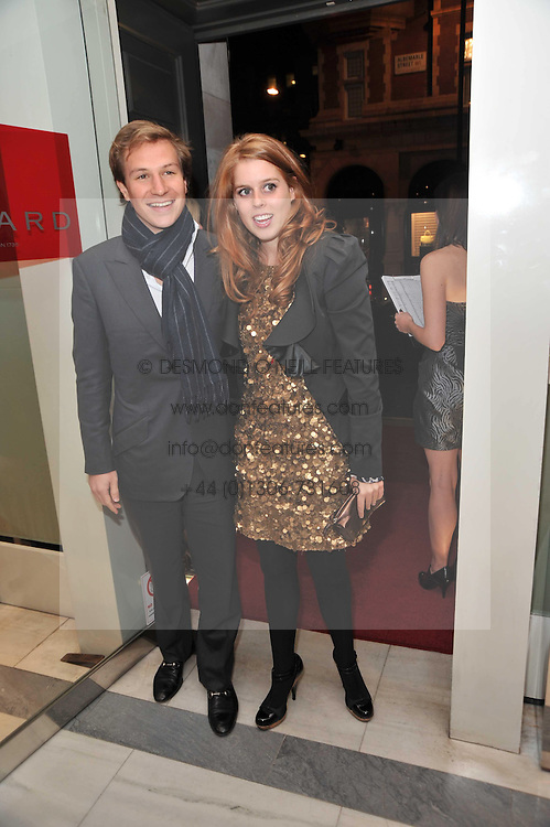 PRINCESS BEATRICE OF YORK and DAVE CLARK at a party to launch the Georgina Chapman collection for Garrard held at Garrard, Albermarle Street, London on 4th November 2009.