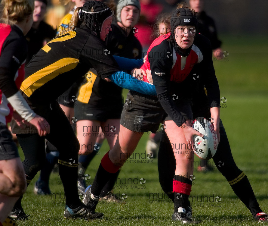 The Guelph Gryphons take on the Waterloo Warriors on Friday November 3, 2006 at the CIS Women's Rugby Championships in London, Ontario.
