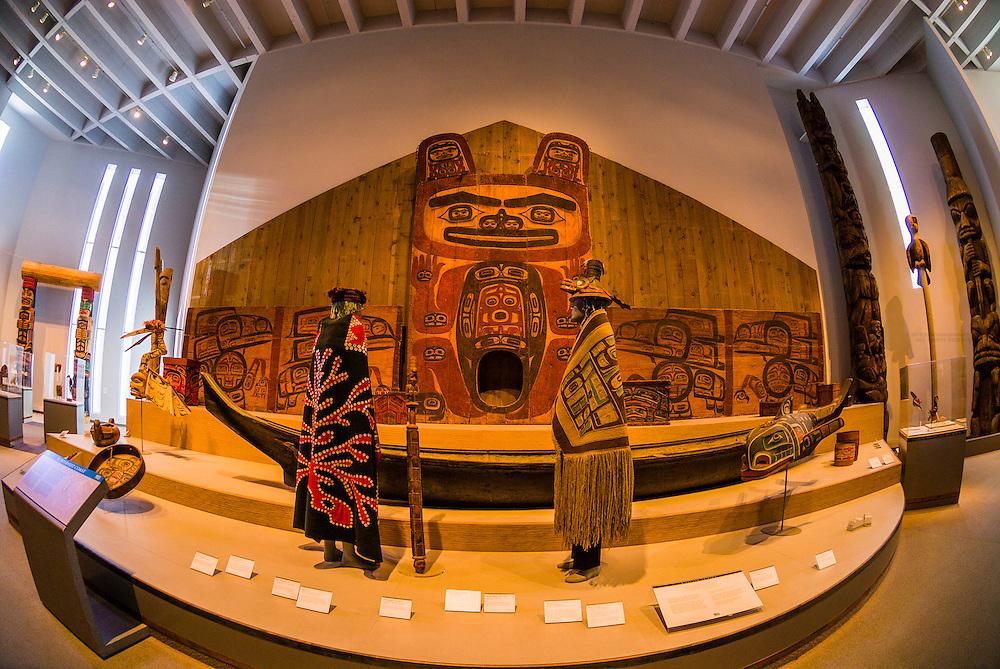 The Northwest Coast Indian Art collection, Northern Building, Denver Art Museum, Civic Center Cultural Complex, Denver, Colorado USA