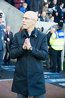 Football - 2016 / 2017 Premier League - Swansea City vs. Manchester United<br /> <br /> Swansea City manager Bob Bradley with hands in the prayer position at the Liberty Stadium.<br /> <br /> COLORSPORT/WINSTON BYNORTH