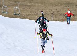 22.03.2018, Pichl-Preunegg bei Schladming, AUT, Red Bull Der lange Weg, Überquerung Alpenhauptkamm, längste Skitour der Welt, im Bild Philipp Reiter (GER), vorne, und David Wallmann (AUT) sowie Bernhard Hug (SUI), hinten // during the Red Bull Der lange Weg, crossing of the main ridge of the Alps, longest ski tour of the world, in Pichl-Preunegg near Schladming, Austria on 2018/03/22. EXPA Pictures © 2018, PhotoCredit: EXPA/ Martin Huber