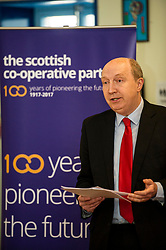Pictured: Andrew Burns<br /> Scottish Labour deputy leader Alex Rowley was joined by Edinburgh City Council leader Andrew Burns at the Serenity Cafe in Edinburgh today to launch the party's local government election manifesto. <br /> Ger Harley | EEm 21 March 2017