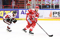 2020-01-08 | Ljungby, Sweden: Troja-Ljungby (25) Mattias Åkesson during the game between IF Troja / Ljungby and Nybro Vikings IF at Ljungby Arena ( Photo by: Fredrik Sten | Swe Press Photo )<br /> <br /> Keywords: Ljungby, Icehockey, HockeyEttan, Ljungby Arena, IF Troja / Ljungby, Nybro Vikings IF, fstn200108, ATG HockeyEttan, Allettan