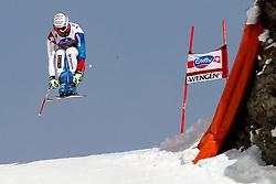 19.01.2013, Lauberhornabfahrt, Wengen, SUI, FIS Weltcup Ski Alpin, Abfahrt, Herren, im Bild Didier Defago (SUI) // in action during mens downhillrace of FIS Ski Alpine World Cup at the Lauberhorn downhill course, Wengen, Switzerland on 2013/01/19. EXPA Pictures © 2013, PhotoCredit: EXPA/ Freshfocus/ Gerard Berthoud..***** ATTENTION - for AUT, SLO, CRO, SRB, BIH only *****