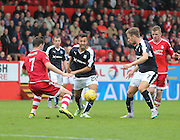 Dundee's Dylan Carrerio goes past Aberdeen&rsquo;s Kenny McLean - Aberdeen v Dundee at Pittodrie<br /> - Ladbrokes Premiership<br /> <br />  - &copy; David Young - www.davidyoungphoto.co.uk - email: davidyoungphoto@gmail.com