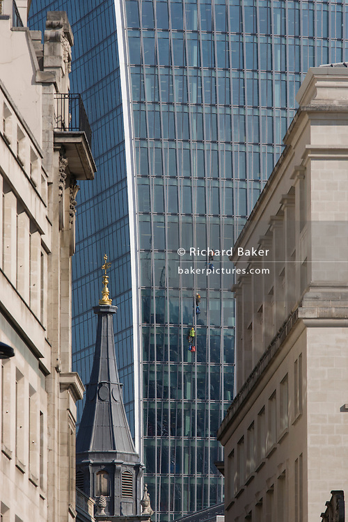 City banks and other financial institutions along Lombard Street, London.
