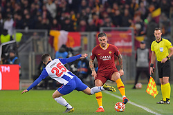 12.02.2019, Stadio Olimpico, Rom, ITA, UEFA CL, AS Roma vs FC Porto, Achtelfinale, Hinspiel, im Bild Aleksandar Kolarov, Otàvio Aleksandar Kolarov, Otàvio during the UEFA Champions League round of 16, 1st leg match between AS Roma and FC Porto at the Stadio Olimpico in Rom, Italy on 2019/02/12. EXPA Pictures © 2019, PhotoCredit: EXPA/ laPresse/ Luciano Rossi/AS Roma<br /> L<br /> <br /> *****ATTENTION - for AUT, SUI, CRO, SLO only*****