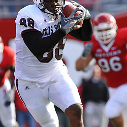 Oct 10, 2009; Piscataway, NJ, USA; Texas Southern tight end Jonathan Hannah (88) catches a pass during first half NCAA college football action between Rutgers and Texas Southern at Rutgers Stadium.