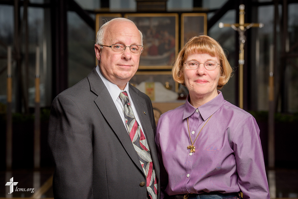 Portrait of Peter and Lucy Hoffmann following a Service of Sending for new missionaries on Friday, March 16, 2018, in the chapel of the International Center of The Lutheran Church–Missouri Synod in St. Louis.  LCMS Communications/Erik M. Lunsford