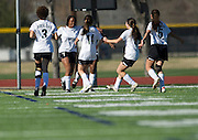 Mimi Asom (7) celebrates with her Hockaday School teammates after scoring the winning goal against Greenhill during the SPC Division I girls soccer championship game at Episcopal School of Dallas on Saturday, February 16, 2013 in Dallas, Texas. (Cooper Neill/The Dallas Morning News)