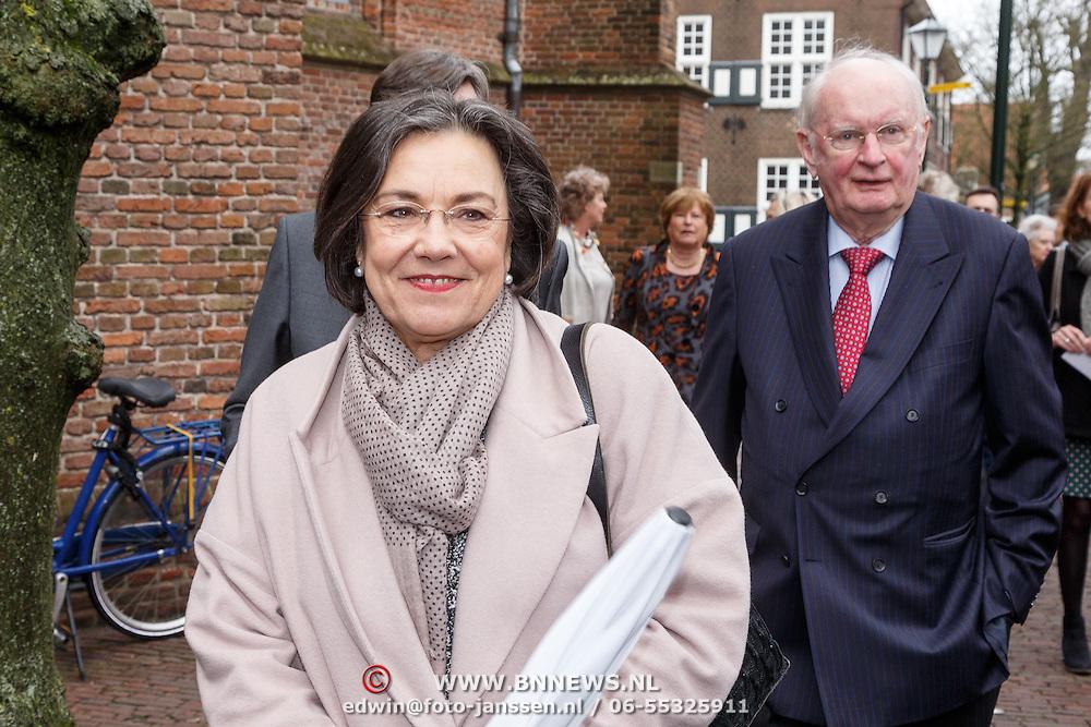 NLD/Naarden/20160325 - Mattheus Passion 2016 Naarden, Gerdi Verbeet en partner