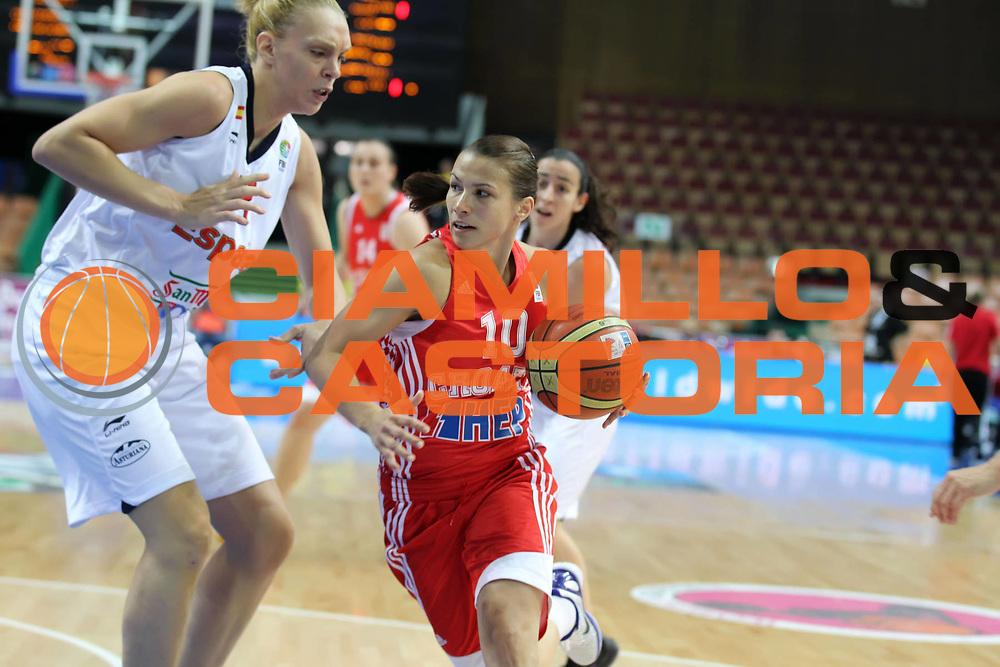 DESCRIZIONE : Katowice Poland Polonia Eurobasket Women 2011 Round 2 Spagna Croazia Spain Croatia<br /> GIOCATORE : Iva Ciglar<br /> SQUADRA : Croatia Croazia<br /> EVENTO : Eurobasket Women 2011 Campionati Europei Donne 2011<br /> GARA : Spagna Croazia Spain Croatia<br /> DATA : 26/06/2011<br /> CATEGORIA : <br /> SPORT : Pallacanestro <br /> AUTORE : Agenzia Ciamillo-Castoria/E.Castoria<br /> Galleria : Eurobasket Women 2011<br /> Fotonotizia : Katowice Poland Polonia Eurobasket Women 2011 Round 2 Spagna Croazia Spain Croatia<br /> Predefinita :