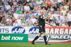 WIGAN, ENGLAND - Sunday, May 11, 2008: Referee Steve Bennett awards Manchester United yet another easy penalty to set them on their way to beating Wigan Athletic 2-0 during the final Premiership match of the season at the JJB Stadium. (Photo by David Rawcliffe/Propaganda)