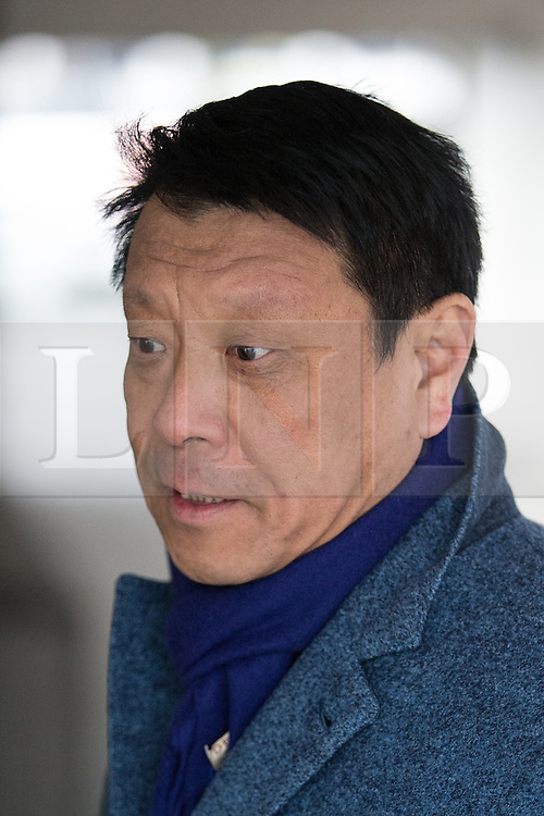 © Licensed to London News Pictures . 25/02/2015 . Manchester , UK . Violin teacher WEN ZHOU LI (59, from Cheshire) arrives at Manchester Crown Court . He is accused of raping a pupil whilst a teacher at Chetham's School of Music . Photo credit : Joel Goodman/LNP
