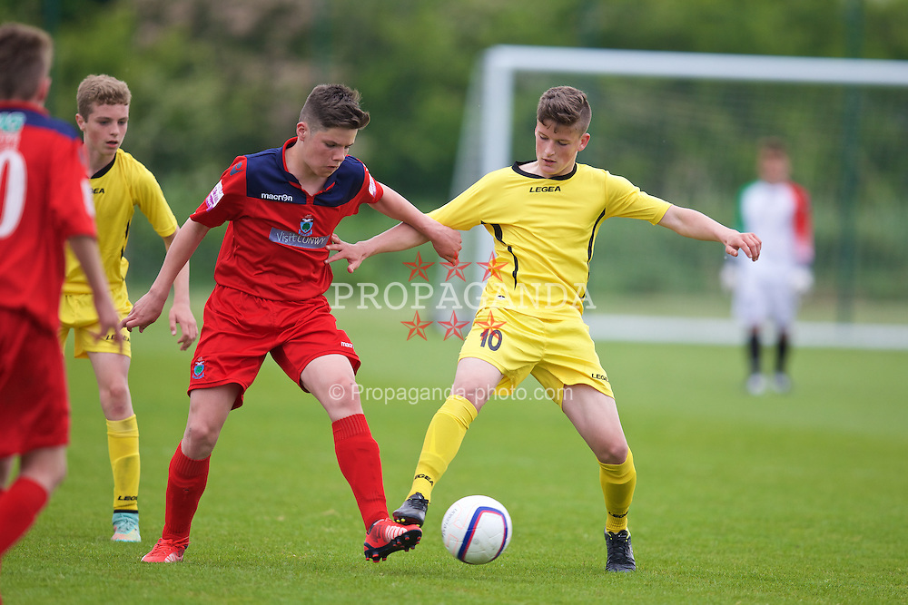 NEWPORT, WALES - Wednesday, May 27, 2015: Central WPL Academy Boys' Jack Vale during the Welsh Football Trust Cymru Cup 2015 at Dragon Park. (Pic by David Rawcliffe/Propaganda)