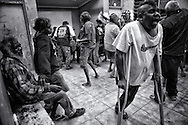 A 21st birthday party is celebrated by homeless and residents in the old office in Kennedy Hill (which has now been demolished.) Broome, Western Australia. ©Ingetje Tadros/Diimex