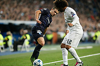 Real Madrid´s Marcelo Vieira (R) and Malmo´s Rodic during 2015/16 Champions League soccer match between Real Madrid and Malmo at Santiago Bernabeu stadium in Madrid, Spain. December 08, 2014. (ALTERPHOTOS/Victor Blanco)