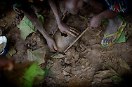 children trying to catch termites after a rainstorm - The central African rep. has some of the world's worst child welfare indicators. The infant mortality rate is 112, and out of 1,000 children born in CAR, 171 will die before reaching the age of five. The five main child killers in CAR are malaria, diarrhoea, acute respiratory infections, malnutrition and measles – all preventable diseases. The Accelerated Child Survival and Development Strategy UNICEF is implementing aims to reach every newborn and child in every district with a set of priority interventions. Evidence shows that there are a number of known and affordable interventions that if implemented fully could prevent 63 per cent of current childhood mortality.